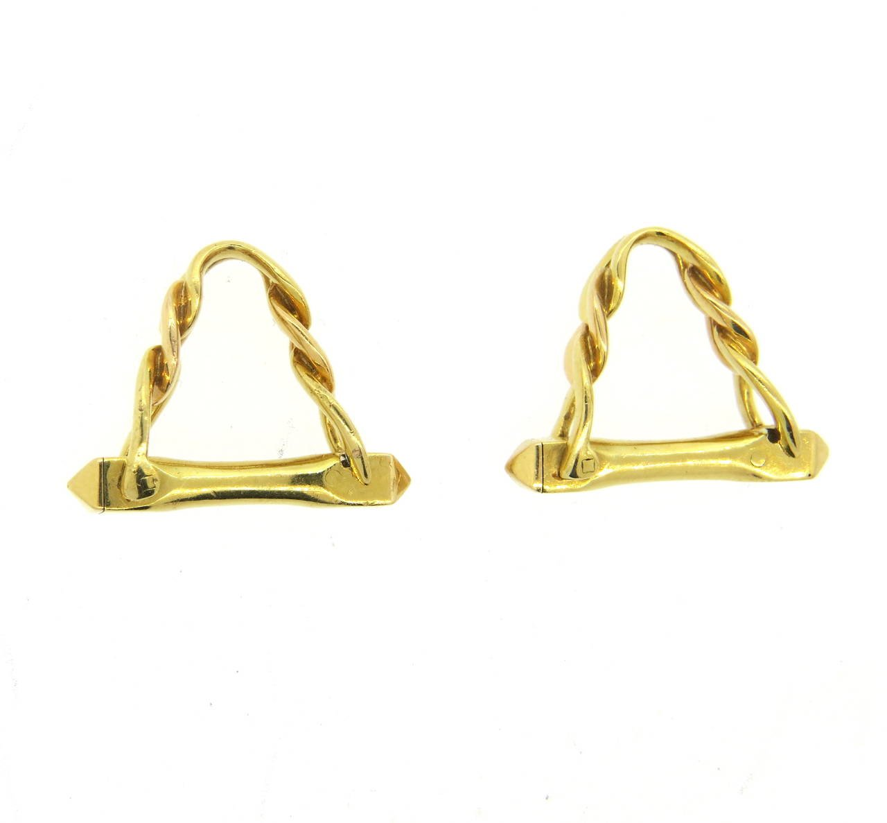 Cartier Paris Gold Stirrup Cufflinks - UPONPARK