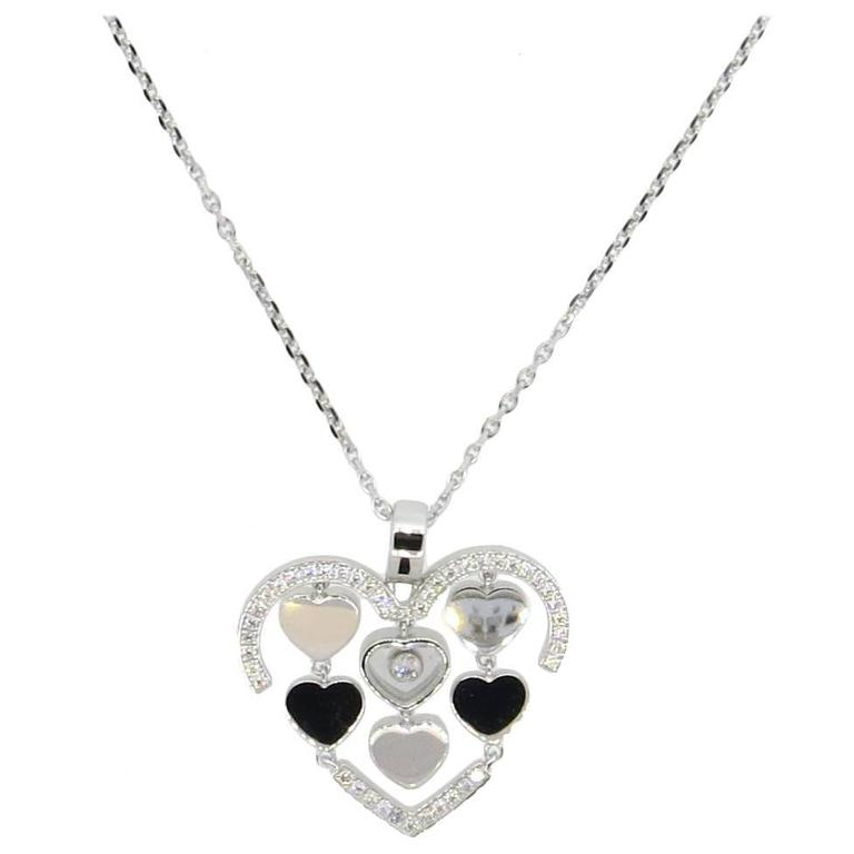 Chopard 18k Happy Amore Floating Diamond Pendant Necklace