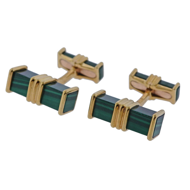 Chaumet Malachite Gold Cufflinks