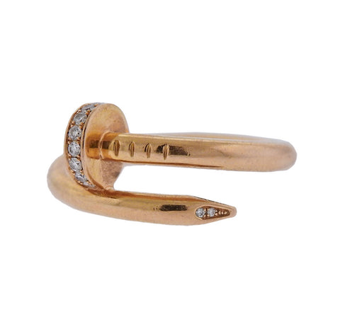 Cartier Bamboo Gold Hoop Earrings