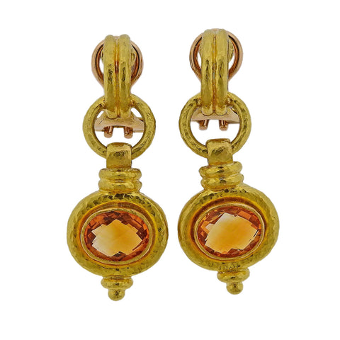 Christopher Walling Gold Pearl Diamond Earrings