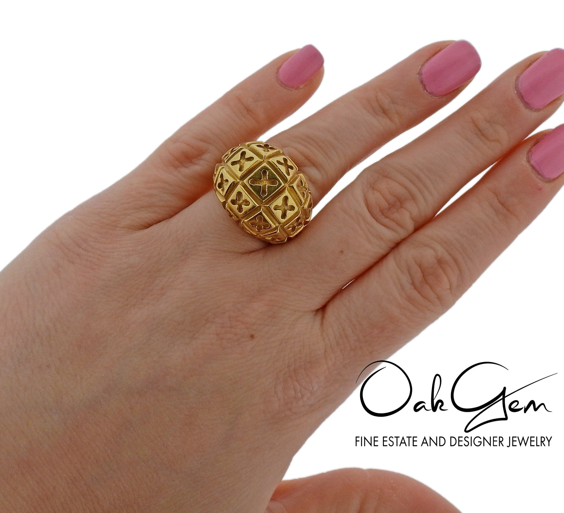 Van Cleef & Arpels Gold Dome Ring