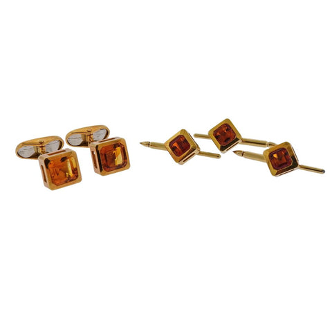 Cartier France Gold Stirrup Cufflinks