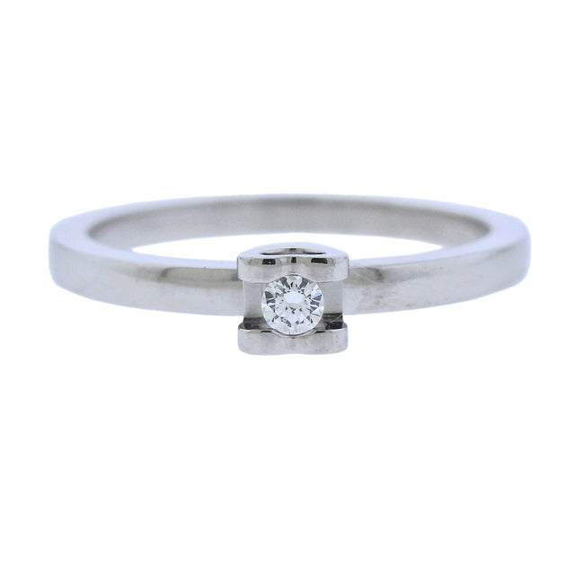 Chopard Diamond Platinum Engagement Ring - UPONPARK
