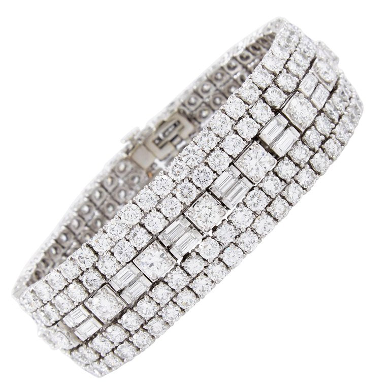 media carat round bracelet bracelets and baguette diamond