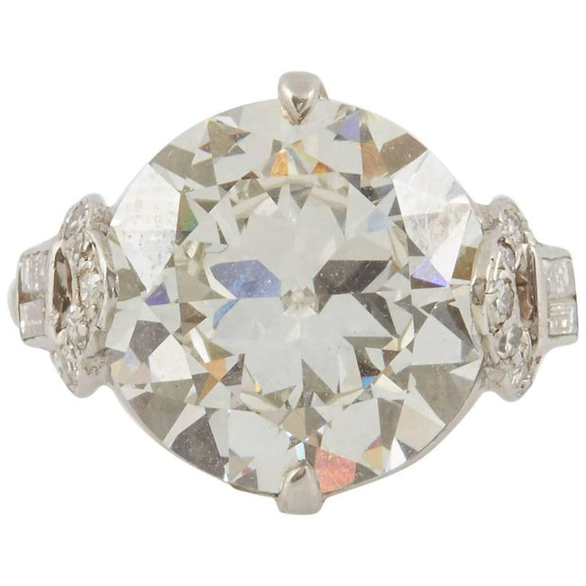 GIA Report 7.12 Carat Art Deco Engagement Ring