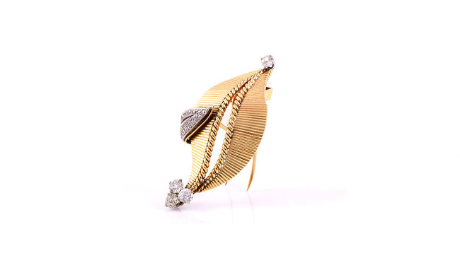 Cartier Gold Diamond Brooch
