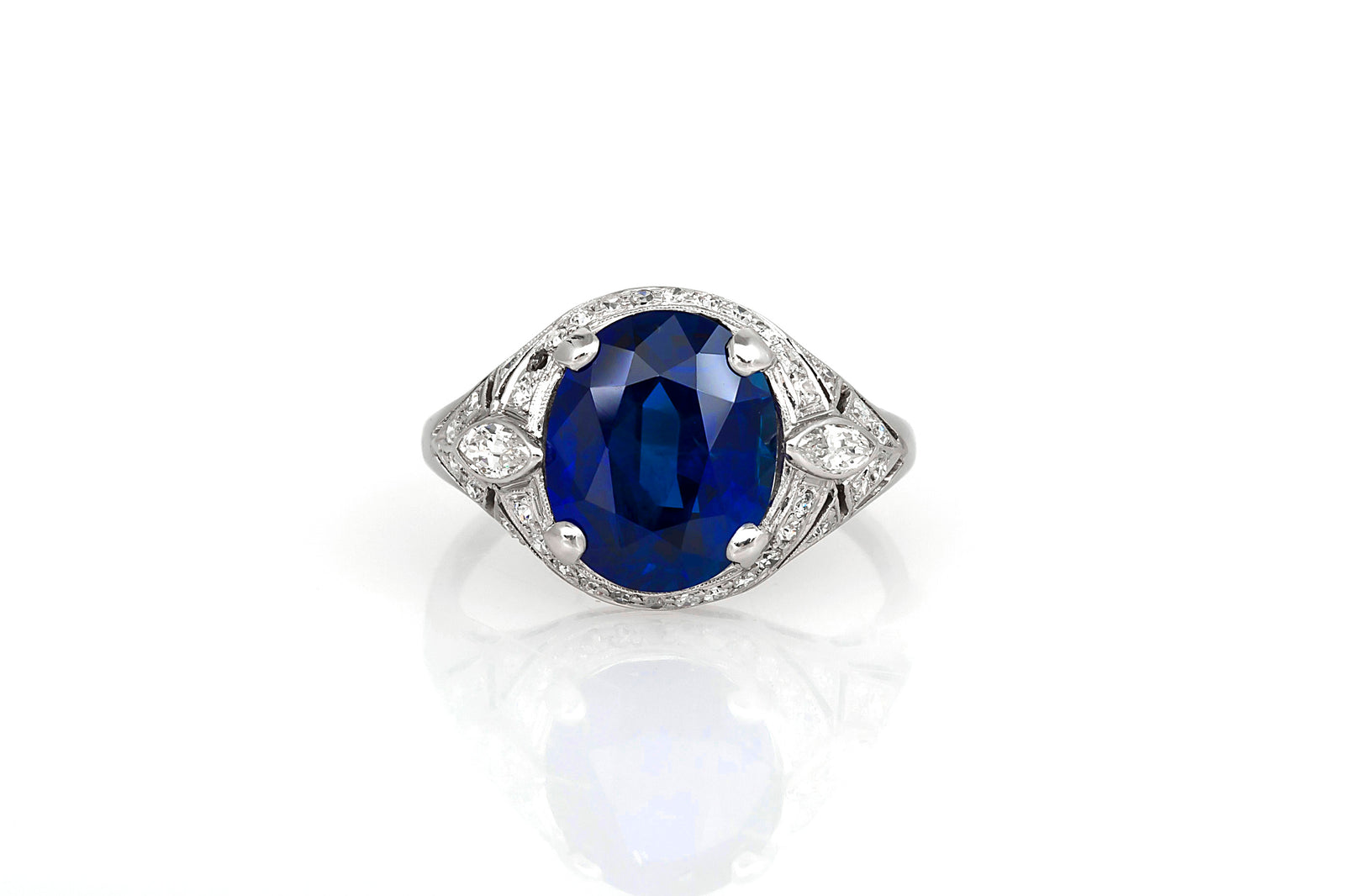 ring rare cleef and archives o fine blue royal very arpels burmese sapphire by a burma van diamond carat