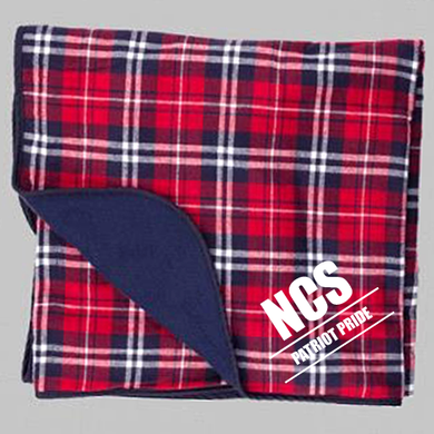 Navy & Red Premium Blanket