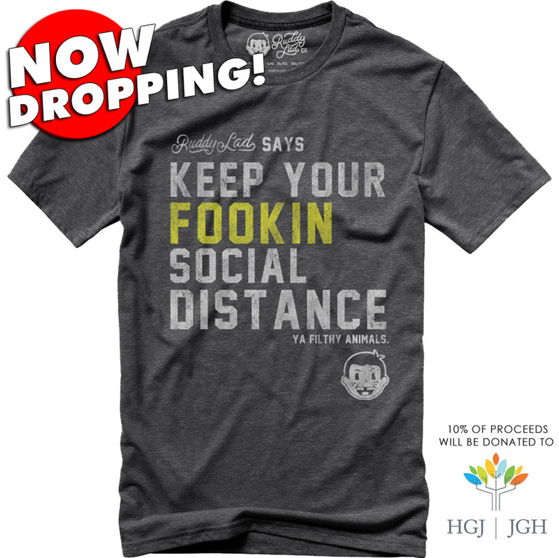 NOW DROPPING!  KEEP YOUR FOOKIN SOCIAL DISTANCE - GRAY SMOKE