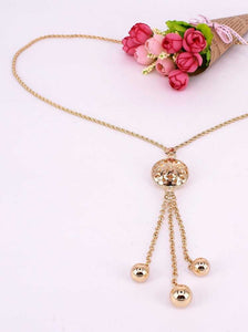 Long gold plated necklace