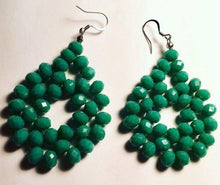 Woven bead earrings