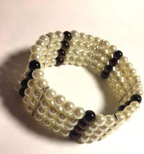 Crystal and pearl bracelets