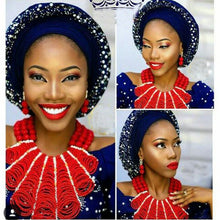 Luxury Nigerian Wedding Crystal Beads for Brides Queen Bridal Flower Bib Statement African Jewelry Sets New Free Shipping WE046