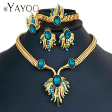 AYAYOO Jewelry Sets Luxury Bridal Wedding African Beads Jewelry Set Womens Accessories Jewelry Sets Gold Color Jewelery Costume