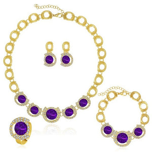 Hollow Dubai Gold Color Jewellery Set Necklace Earring For Wedding Jewelry Women Nigerian Antique Charms Fashion Accessories