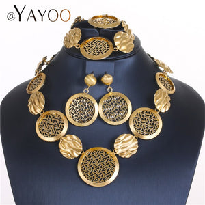 AYAYOO Jewelry Sets For Women African Beads Jewelry Set Round Nigerian Turkish Ethiopian Wedding Bridal Costume Jewelry Set