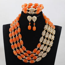 2017 New White and Red Crystal Braids Costume Necklace Set Nigerian Wedding African Beads Jewelry Set Gift Free Shipping WE086