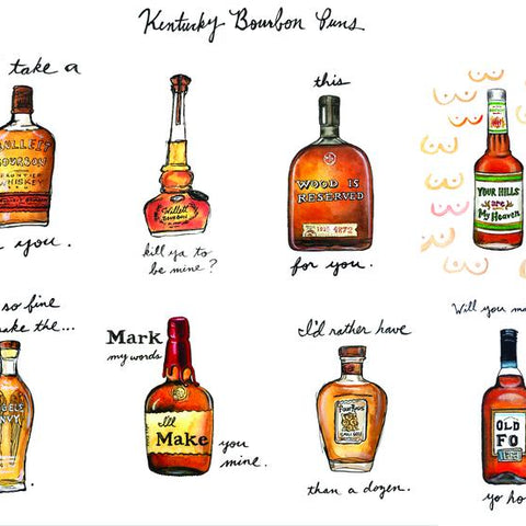 Bourbon Pun Greeting Cards
