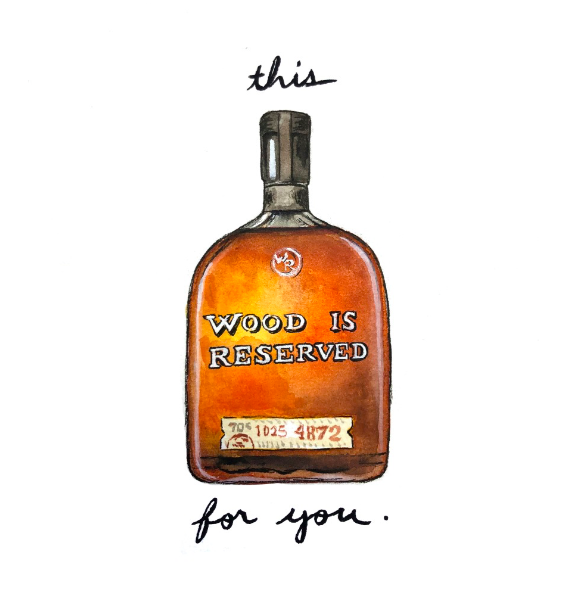 This Wood is Reserved for you. - The Holiday Spirits Calendar