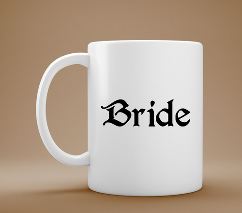Bride Coffee Mug, Custom Mug, Wedding Gift, Bride Gift, Bridal Gift, Bridal Shower Gift