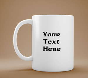 Customized Text Mug