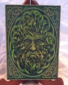 Green Man Magnet, Foliate Magnet, Celtic Green Man, Pagan Magnet