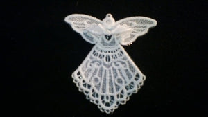 Christmas Angel, Lace Angel, Tree Ornament, Yule Ornament, Holiday Decor