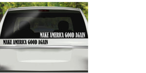 Make America Good Again Vinyl Decal, Political Decal, Progressive Decal