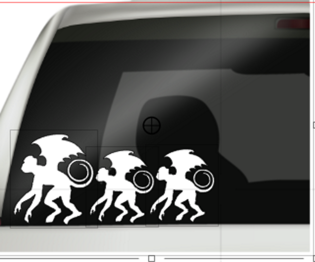 Flying Monkey Family Decals, Monkey Stickers, Funny family Decal