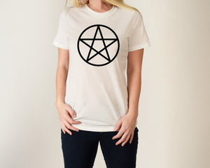 Pentacle Tee Shirt, Pagan Shirt, Wiccan Shirt, Witch Shirt