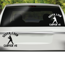 School Baseball Team Vinyl Decals, Baseball Decal, School Pride Decal, School Spirit Decal, Team Decal