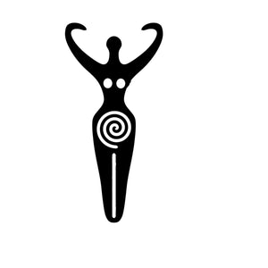 Spiral Goddess Wicca Pagan Symbol Decal
