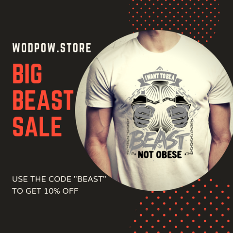I WANT TO BE A BEAST NOT OBESE-TOTE A QUOTE