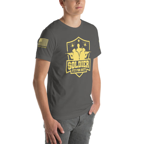 SOLDIER: FIT FOR DUTY SHORT-SLEEVE UNISEX T-SHIRT (ARMY: LIMITED ED.)