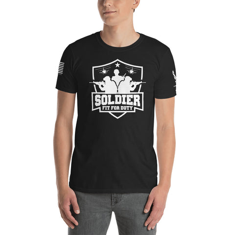 SOLDIER: FIT FOR DUTY Short-Sleeve Unisex T-Shirt *DARK (AIRFORCE: LIMITED ED.)