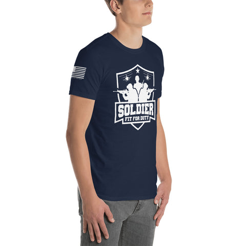 SOLDIER: FIT FOR DUTY Short-Sleeve Unisex T-Shirt *DARK (NAVY: LIMITED ED.)