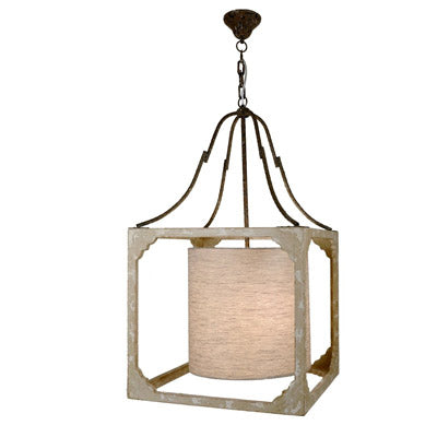 The Stella wood and glass hanging lantern from Lillian Home.