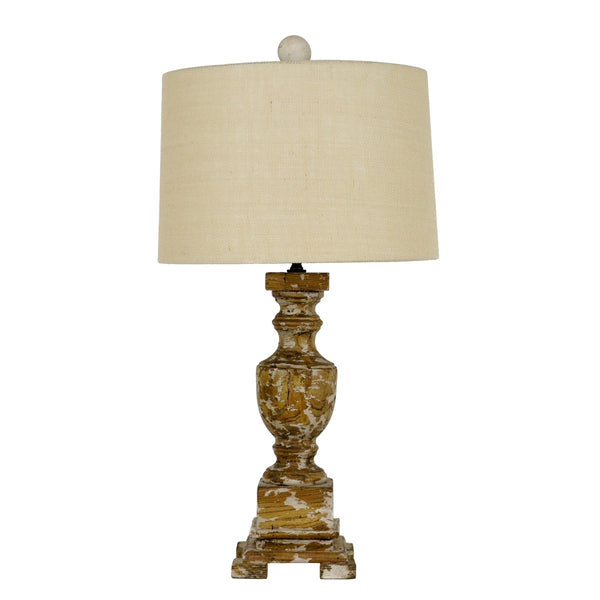 Unique Luella Solid Wood Table Lamp | Lillian Home