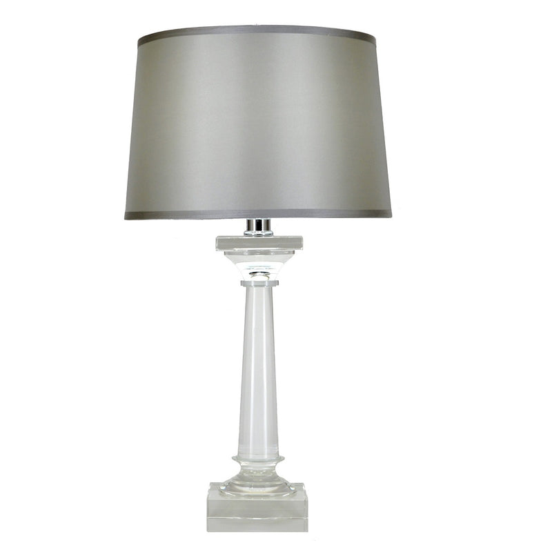 Mason Solid Crystal Mercury Glass Table Lamp - Lillian Home