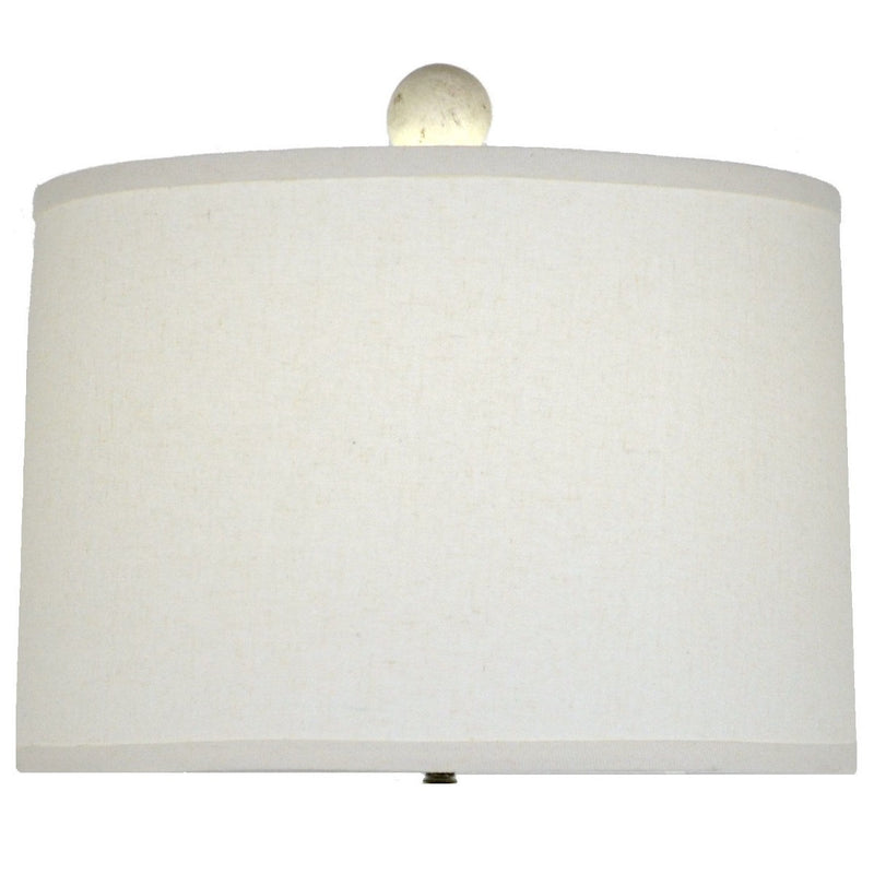 Raymond Solid Wood White Table Lamp | Lillian Home