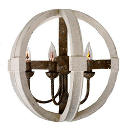 Acton Wooden Wall Sconce - Sconces Acton