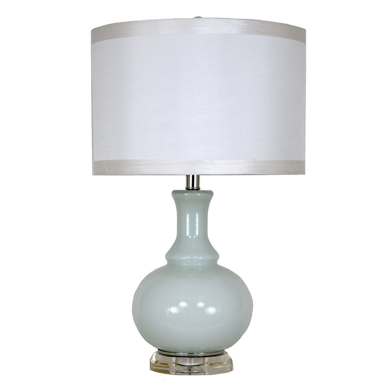 Ashley Light Blue Color Mirrored Base Table Lamp | Lillian Home