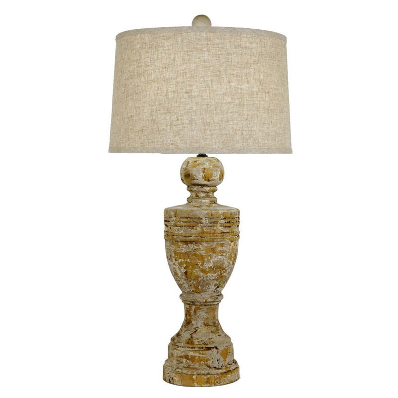 JULIUS CARVED WOODEN LAMP