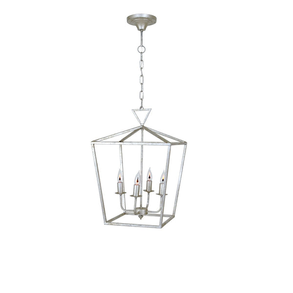 Dana 4 Light Silver Lantern - Lillian Home