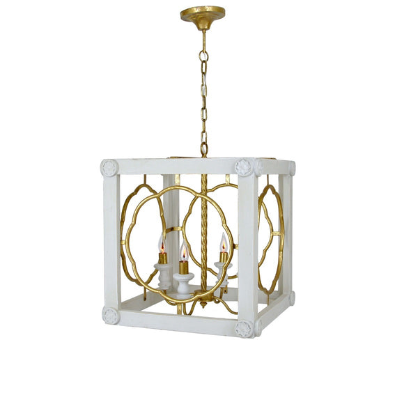 Kingston 4 Light Wood Lantern - Lillian Home