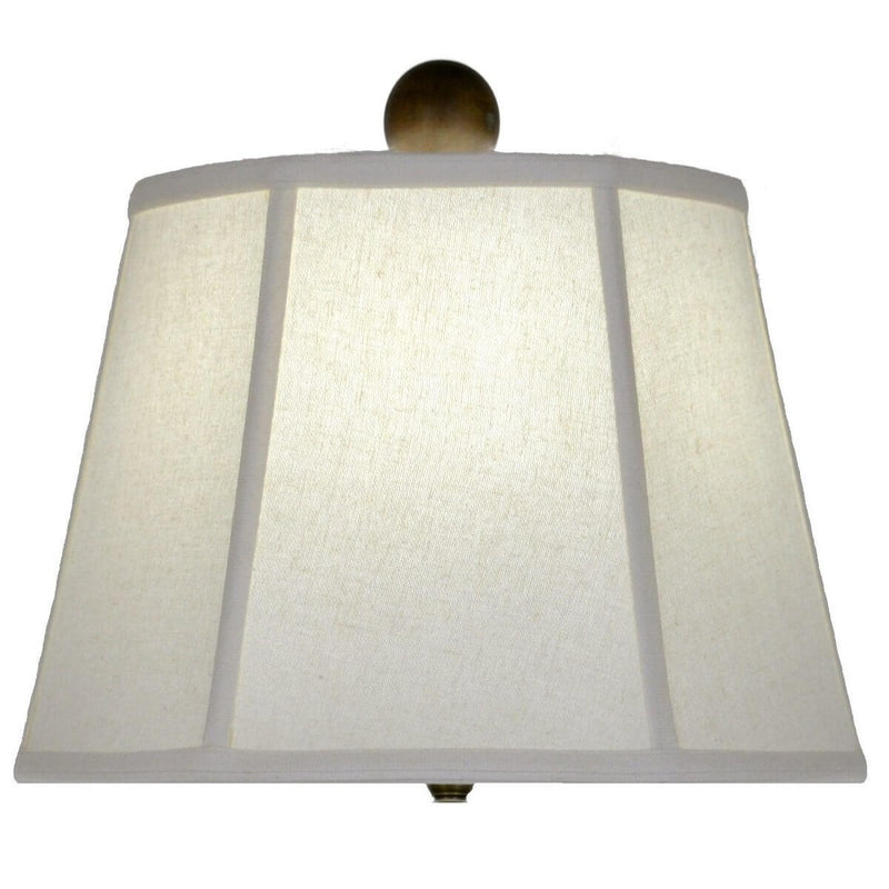 Serenity White Pottery Table Lamp - Lillian Home