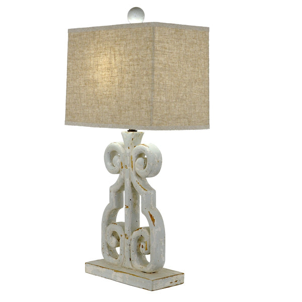 Lachlan Carved Wood Lamp - Lillian Home