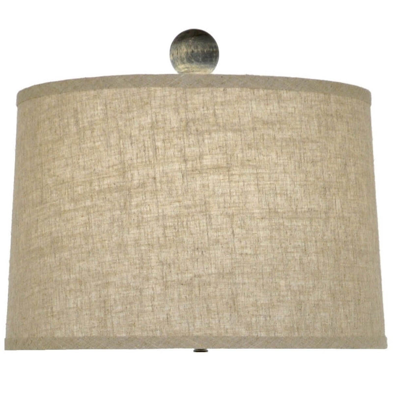 Magnolia Carved Wood Table Lamp | Lillian Home | Shop Now