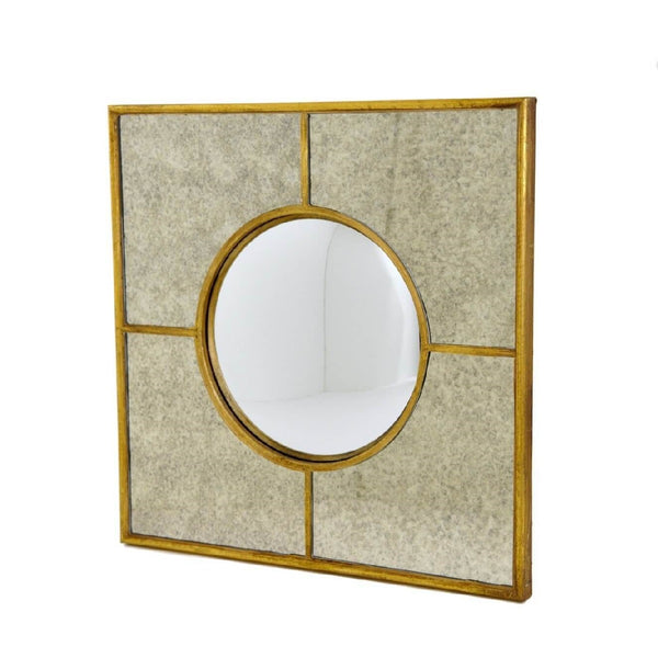 Gold sectional wall mirror